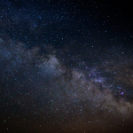 Night photo of Milky Way galaxy