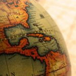 globe showing Latin America